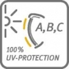 100 % UVA, UVB, AND UVC PROTECTION
