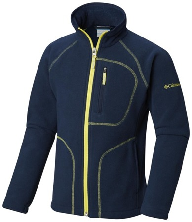 YBs Fast Trek Full Zip-Collegiate Navy