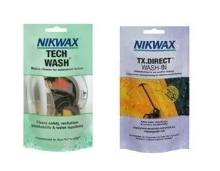 Zestaw NIKWAX Tech Wash +TX Direct Wash-In 2x100ml saszetki
